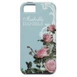 Matching Bride Bridal Gift, Trellis Rose Vintage iPhone 5 Case