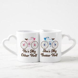 Matching Couples Better Half Love Mugs Lovers Mug Sets