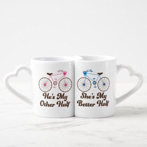 Matching couples better half love mugs lovers mug sets zazzle