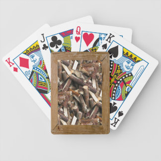 Matching cribbage board poker cards