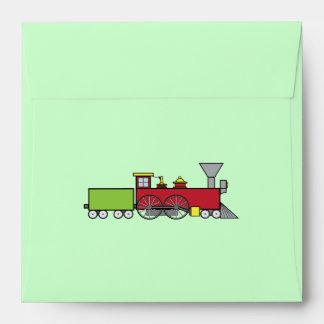 Matching Envelope: Birthday Train Invitation Envelope