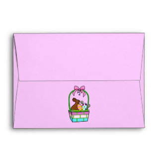 Matching Envelope: Easter Basket with Bunny Envelope