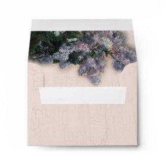 Matching Envelope - Impressionistic Lilacs envelope