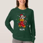 Matching Family Christmas Holiday Mom Custom Name T-Shirt
