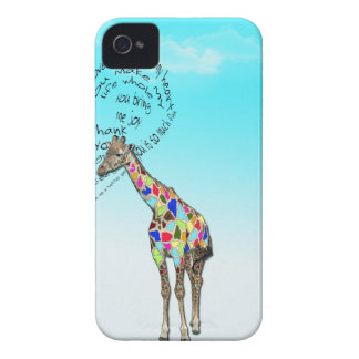 Matching giraffe heart iphone covers iPhone 4 cases