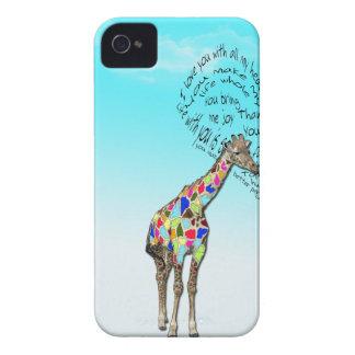 Matching giraffe heart iphone covers Case-Mate iPhone 4 case