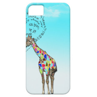 Matching giraffe love heart iphone covers iPhone 5 cover