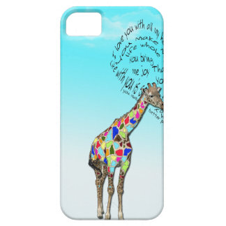 Matching giraffe love heart iphone covers iPhone 5 covers