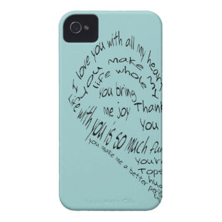 Matching heart pair iphone covers iPhone 4 Case-Mate case