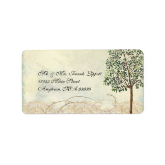 Matching Mailing Labels, Tuscan Olive Tree Swirl