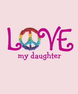 Matching Mom and Daughter Clothes - Peace & Love T Tees