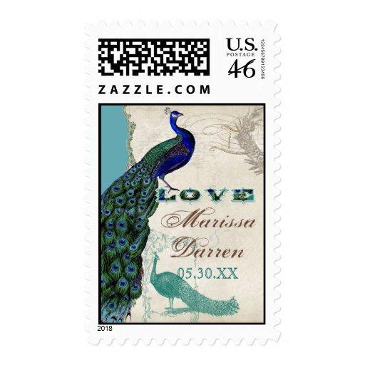 Matching Postage - Vintage Peacock 5 Love