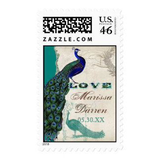 Matching Postage - Vintage Peacock 5 Love