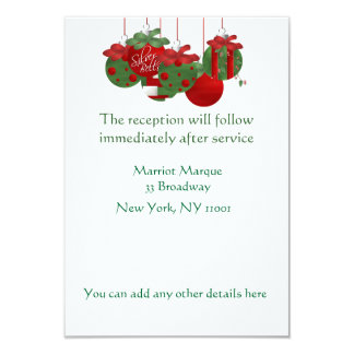 MATCHING Reception Holiday Cards