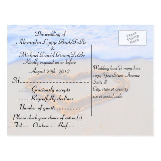 Matching RSVP for Invited Guests Postcard
