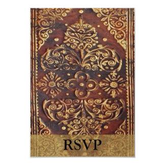 "Matching RSVP Vintage Antique Book Image 3.5"" X 5"" Invitation Card"
