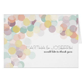 Matching  Scattered Confetti Spring Thank You Card