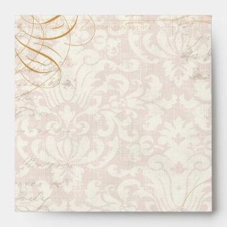 Matching Wedding Envelopes - Trellis Rose Vintage