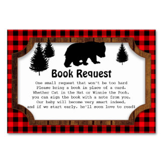 Matching Woodsy Bear Book Request Insert Card