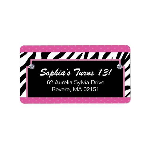 Matching Zebra Print Labels | Zazzle