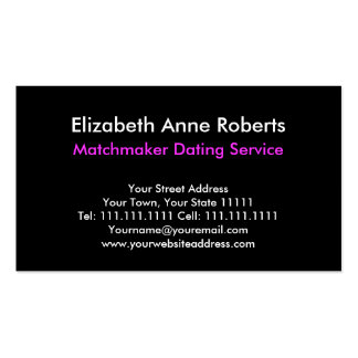 Matchmaker Dating Service Care Giver Pretty Hearts Business Card
