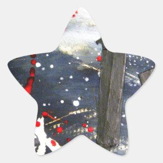 Matchsticks de estallido calcomanías forma de estrella