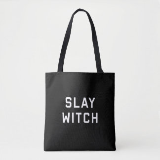 Mate a la bruja Halloween Bolsa De Tela