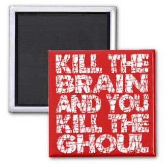 Mate a la matanza del cerebro el espíritu necrófag iman de nevera