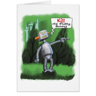 Mate a la tarjeta mullida del conejito