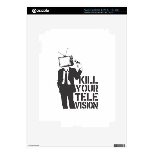 Mate a su televisión pegatina skin para iPad 3