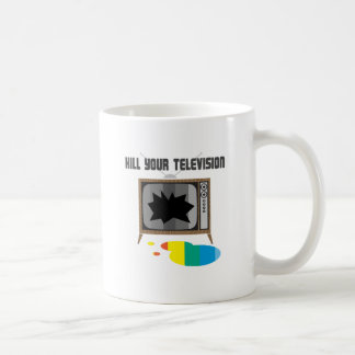 Mate a su televisión taza de café