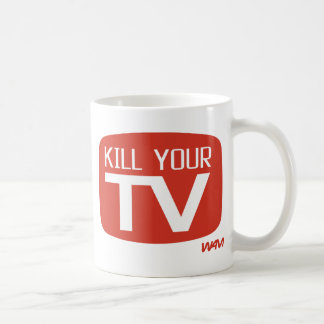MATE A SU TV TAZA DE CAFÉ