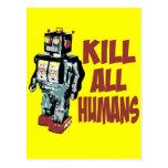 Mate a todos los seres humanos postal