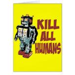 Mate a todos los seres humanos tarjeton