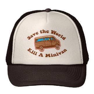 Mate a un minivan gorros