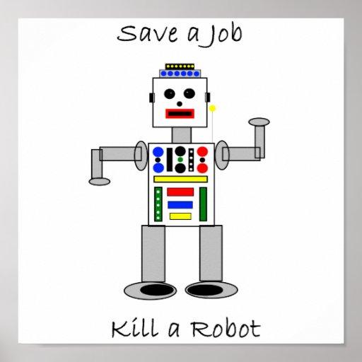 Mate a un robot poster