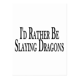 Mate bastante los dragones tarjeta postal