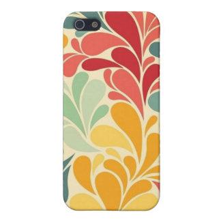 mate del caso del iPhone 5 -- Descensos florales c iPhone 5 Funda