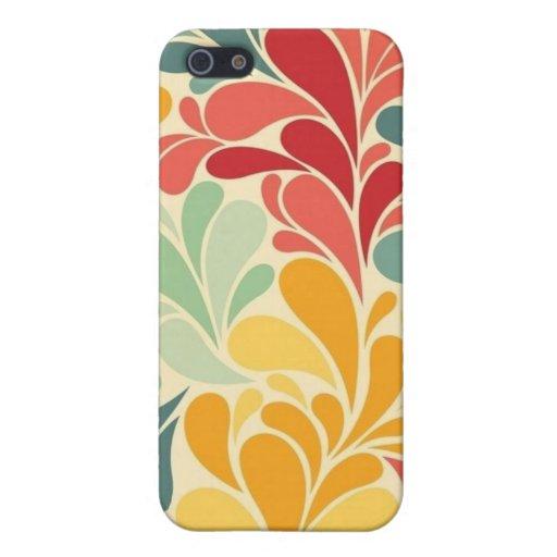 mate del caso del iPhone 5 -- Descensos florales c iPhone 5 Cobertura