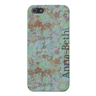 mate del caso del iPhone 5 - flor fangosa azul iPhone 5 Carcasa
