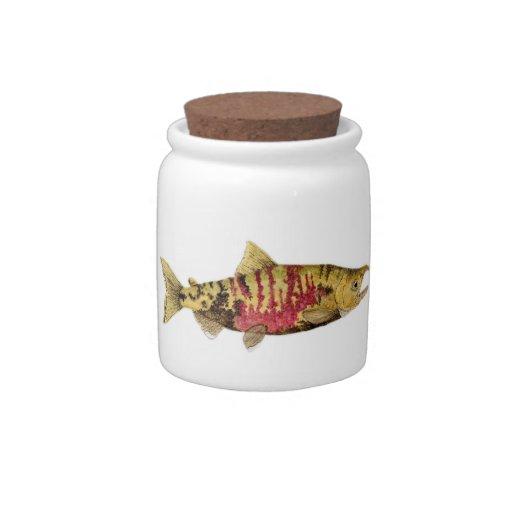 Mated Pair of Chum Salmon Candy Jars