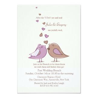 Mated Post Wedding Lavender Brunch Invitation