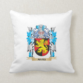 Matei Coat of Arms - Family Crest Throw Pillows