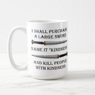Máteles con la taza divertida de la amabilidad