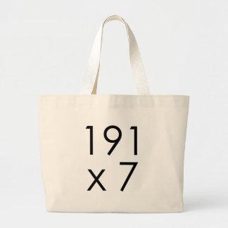 matemáticas 191 x 7 = 1337 de Leet el | Leet L33T Bolsa Tela Grande
