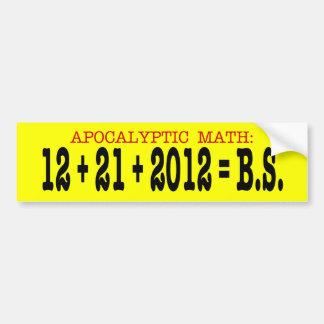Matemáticas apocalíptica etiqueta de parachoque