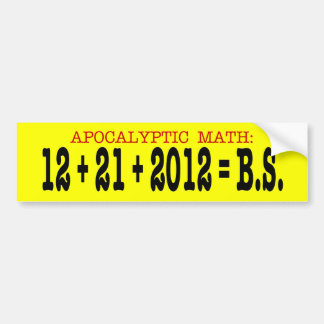 Matemáticas apocalíptica pegatina para auto