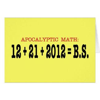 Matemáticas apocalíptica tarjeta de felicitación