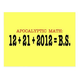 Matemáticas apocalíptica tarjeta postal