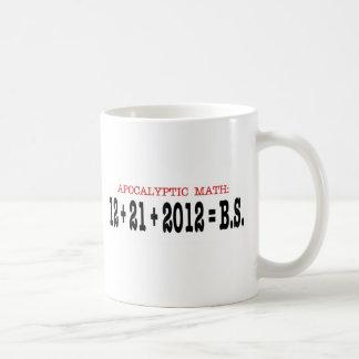 Matemáticas apocalíptica taza de café